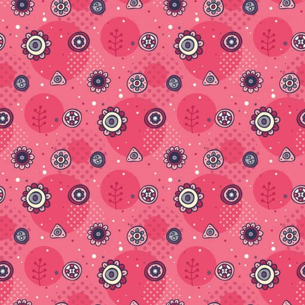 Cute hand drawn pink pattern