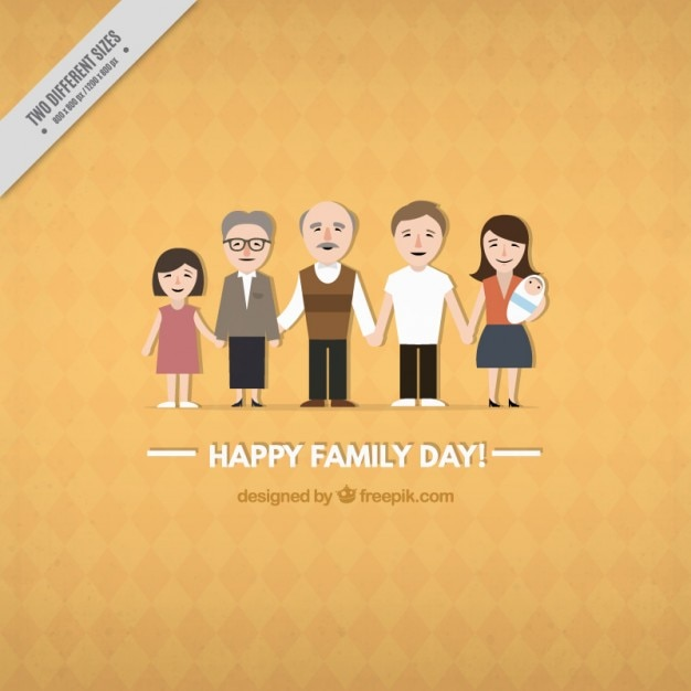 Cute Happy Family Day Background
