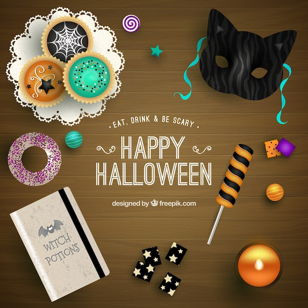 cute happy halloween background free vector - Halloween Background Images Free