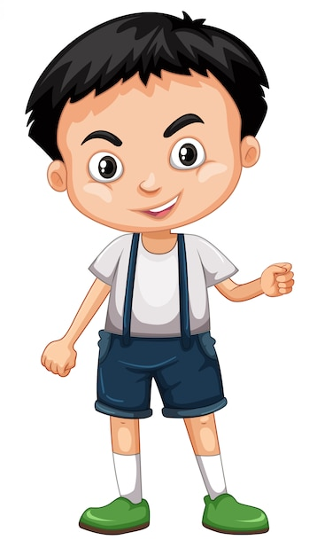 Cute happy smiling child isolated on white Premium Vector