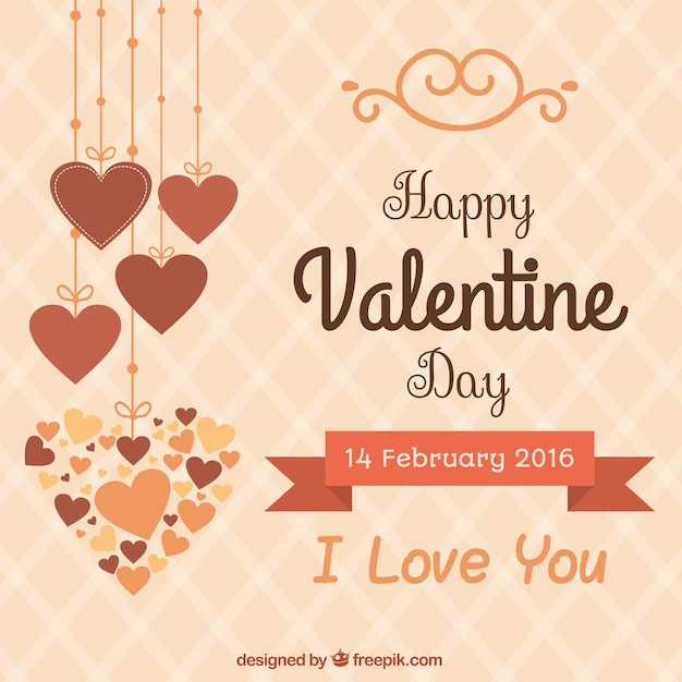 cute happy valentine day background vector premium download