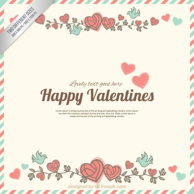 Cute Happy Valentine Letter Vector Free Download