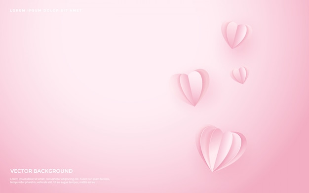 Cute heart pattern background. Premium Vector