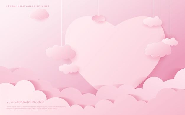 Cute heart pattern background. Premium Vector