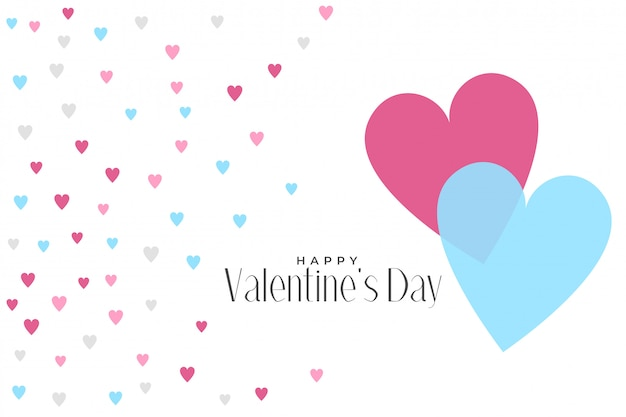 Cute hearts pattern valentines day background Free Vector