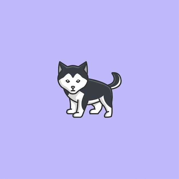 Cute husky vector Premium Vector