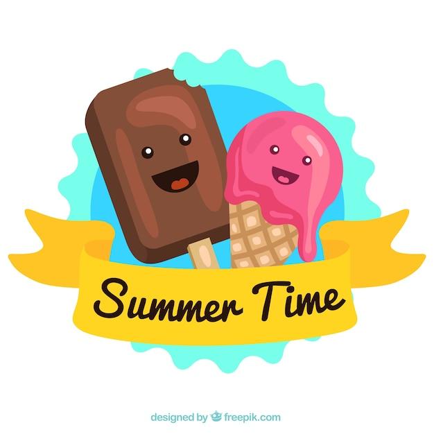 Download Cartoon Ice Cream Wallpaper Gallery: Cute Ice Cream Characters Vector