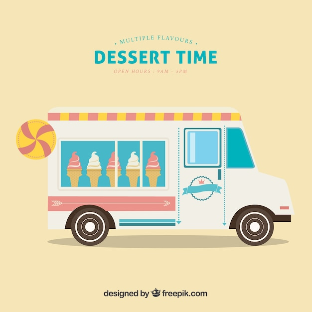 how to draw a ice cream truck