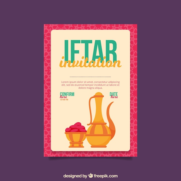 Cute iftar invitation vector free download cute iftar invitation free vector stopboris Images