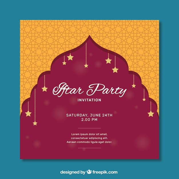Cute iftar party invitation vector free download cute iftar party invitation free vector stopboris Images