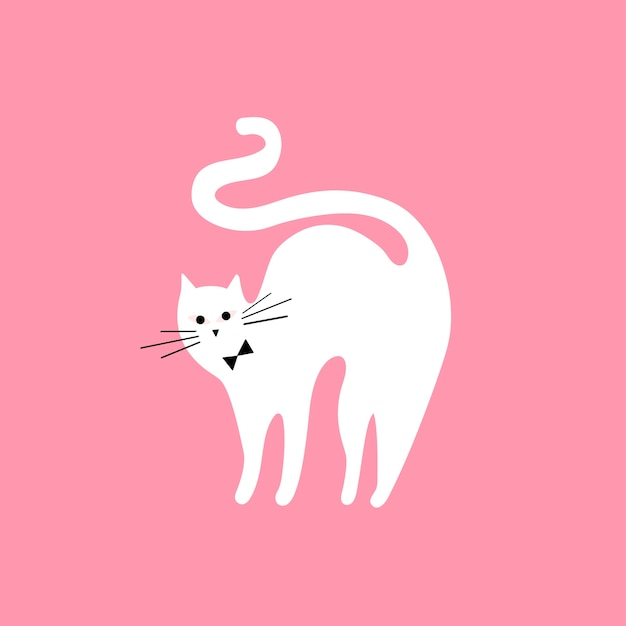 Cute illustration of a cat Free Vector