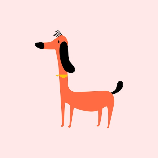 Cute illustration of a dog Free Vector
