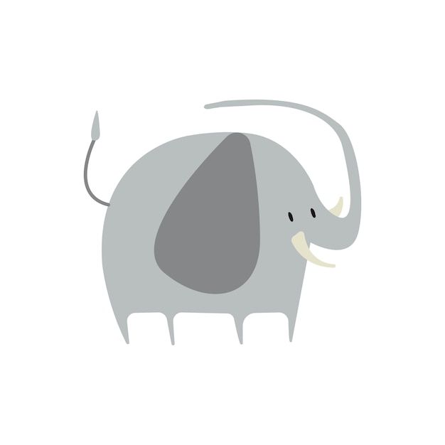 Cute illustration of an elephant Free Vector