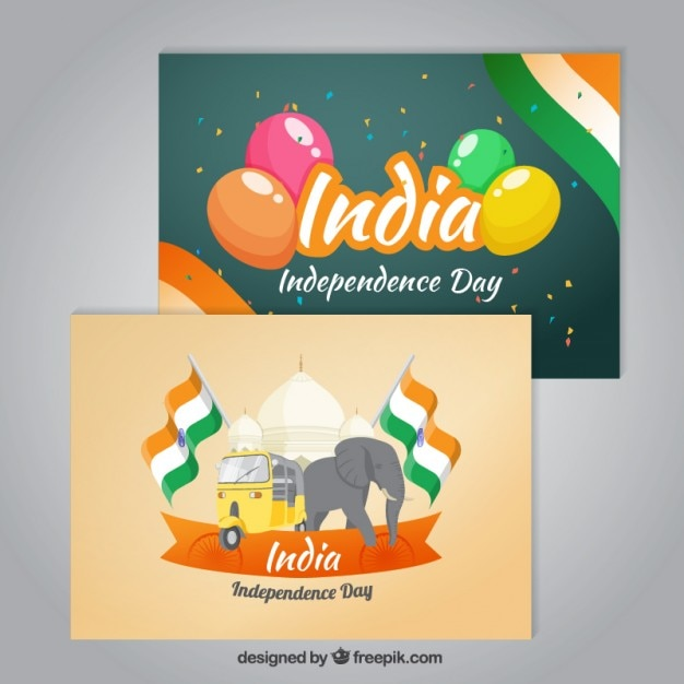 Cute india independence day cards vector free download cute india independence day cards free vector m4hsunfo