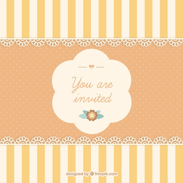 Cute Invitation Card Vector Free Download