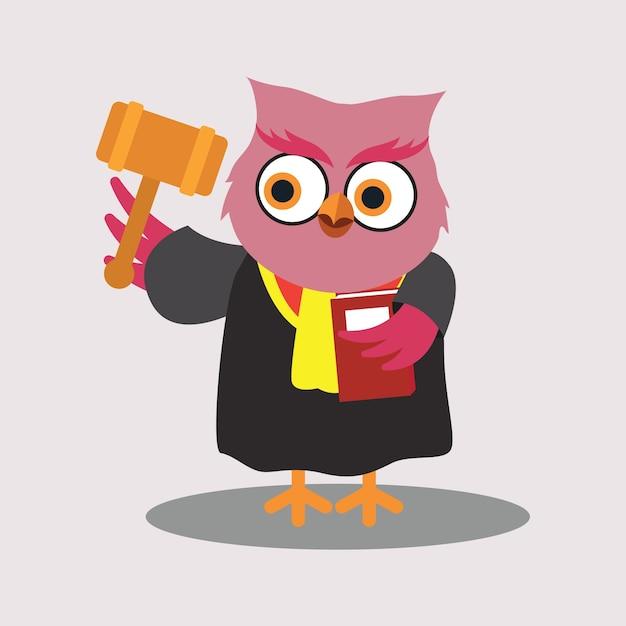 Cute judge of owl cartoon character vector free download cute judge of owl cartoon character free vector voltagebd Choice Image