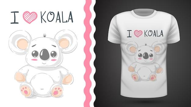 Cute koala - idea for print t-shirt Premium Vector