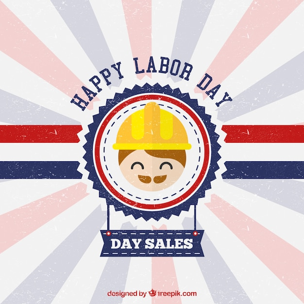 Cute labor day poster