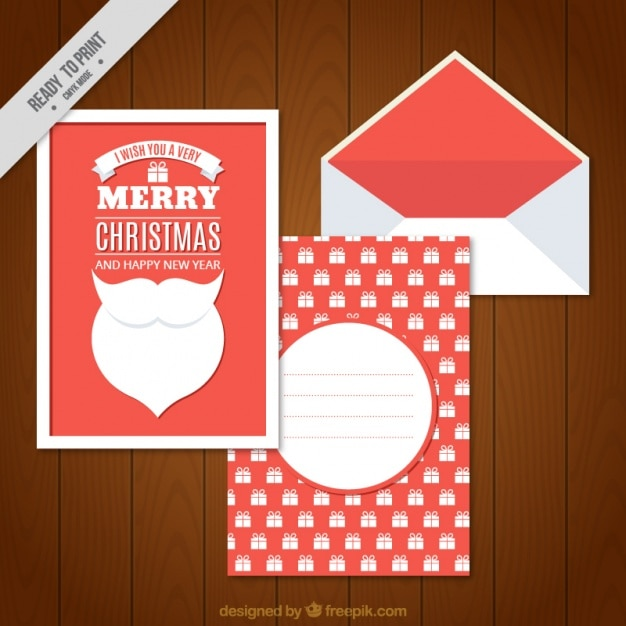 Cute letters for santa claus and envelope