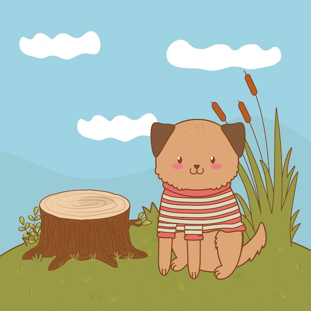 Cute little animal cartoon Premium Vector
