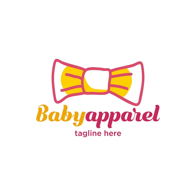 f7fcc7e70 Cute little baby apparel logo Vector