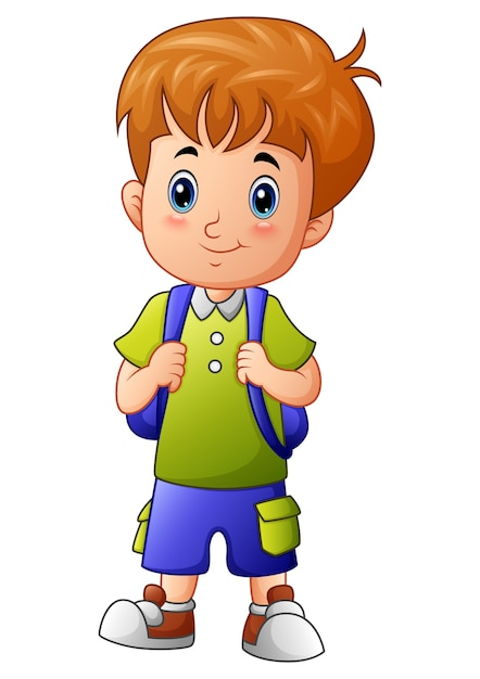 clipart of smiling and waving little boy - Clipground