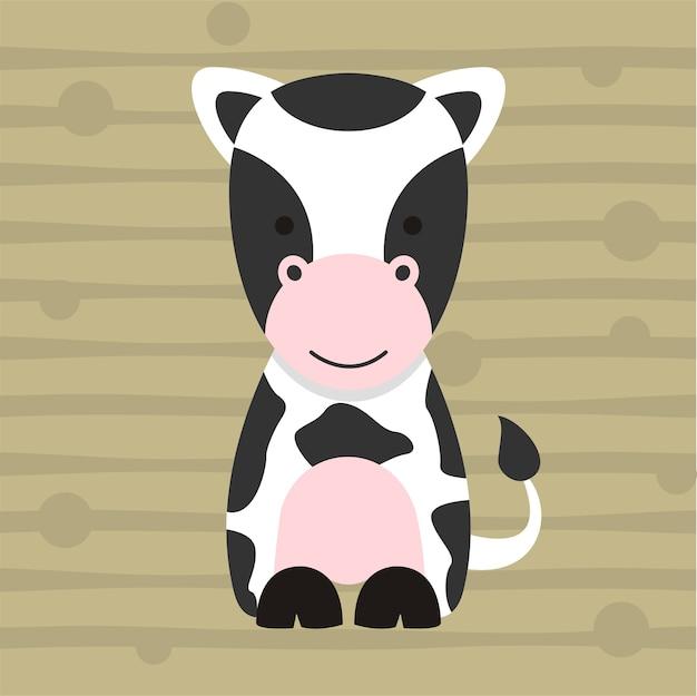 Cute Little Cow Soft Color Kids T Shirt Design Vector Premium Download