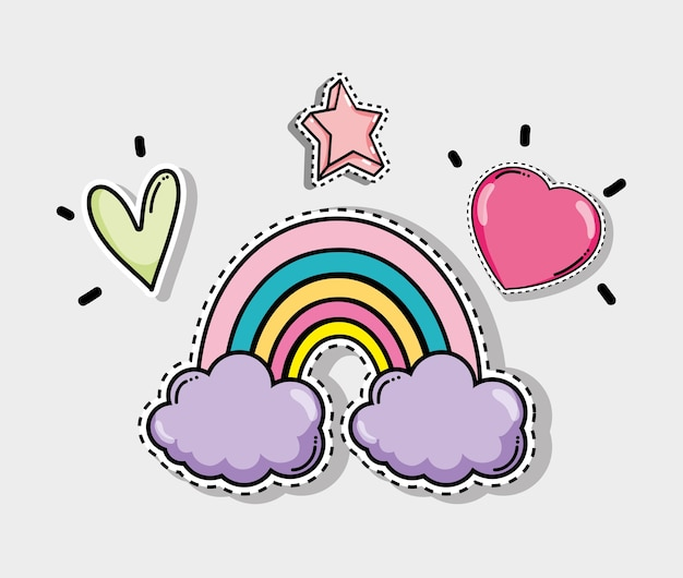 Cute and lovely cartoons Premium Vector