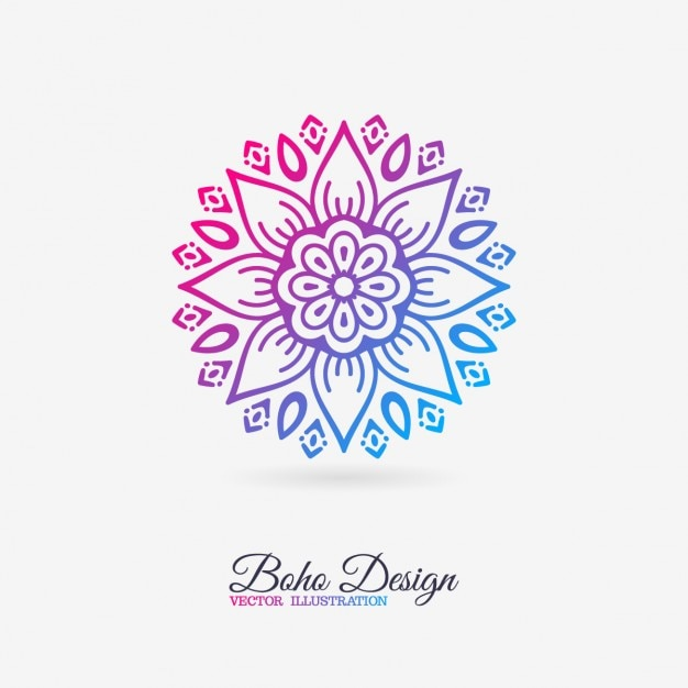 Cute Mandala With Floral Elements Vector