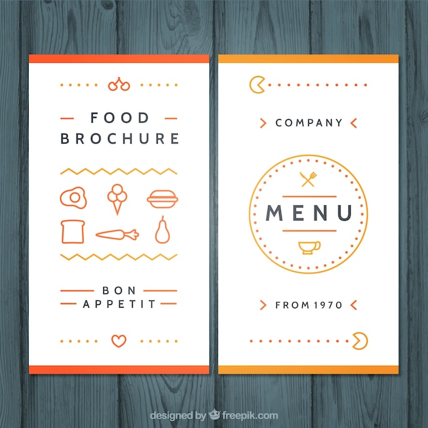 Cafe Menu Design Template Free