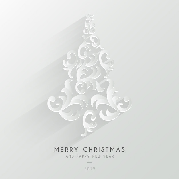 Cute merry christmas background with ornaments Free Vector