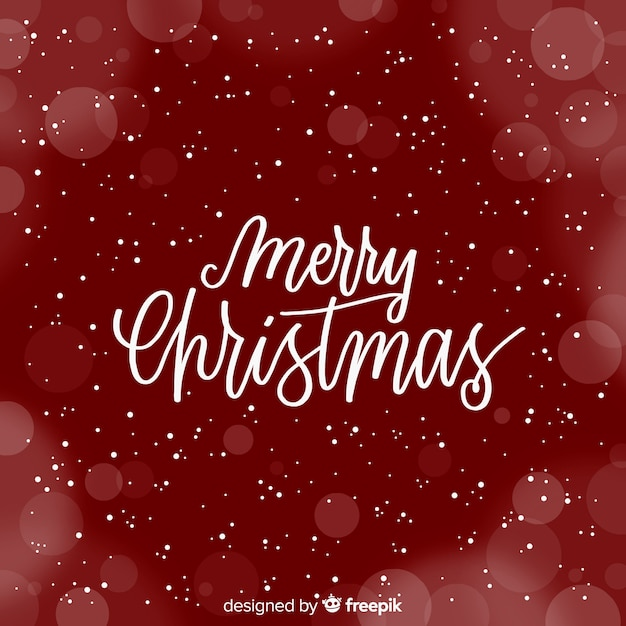 Cute merry christmas lettering Free Vector
