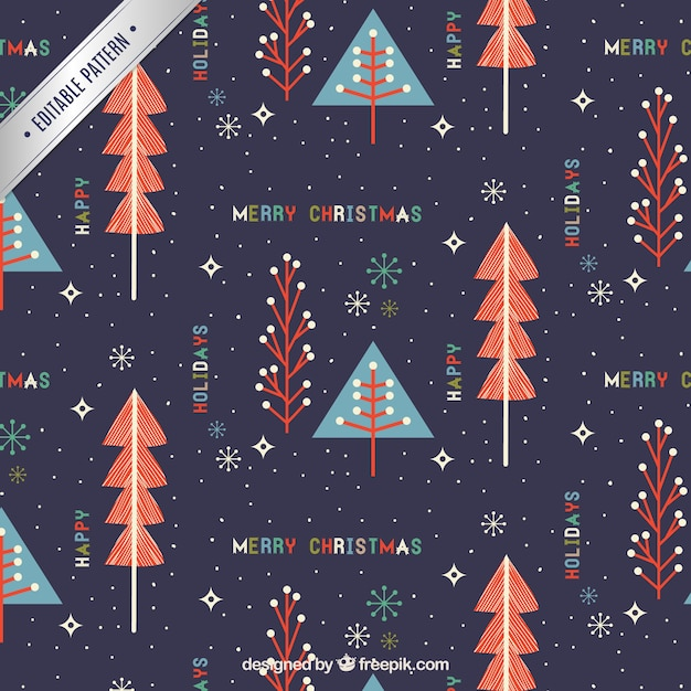 Cute merry christmas pattern Premium Vector