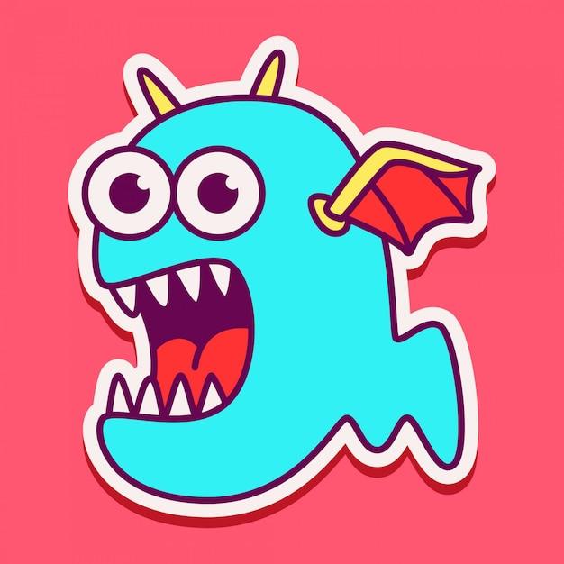 Cute monster character design Premium Vector