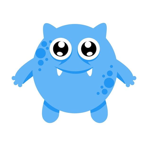 Cute Monster Character Illustration Design Template Vector