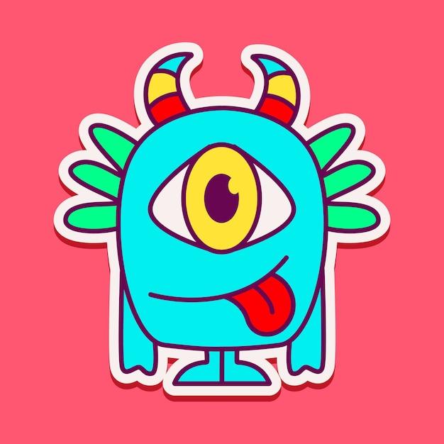Симпатичный персонаж-монстр Premium векторы