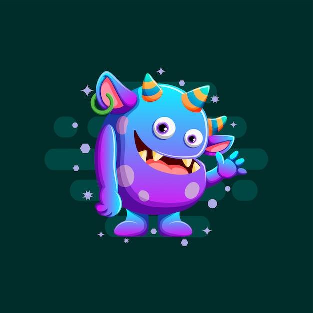 Cute monsters illustration Premium Vector