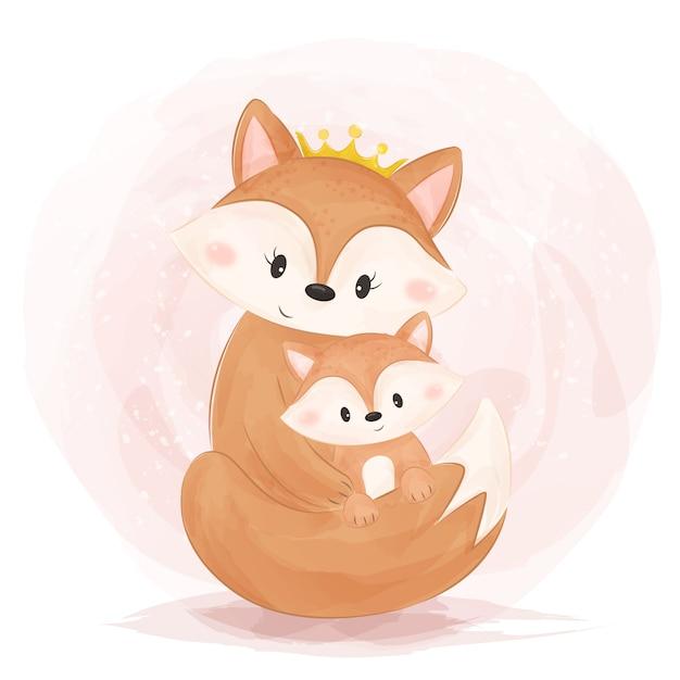 Vector illustration of Cute baby fox ... | Stock vector ...  |Vector Cute Baby Fox
