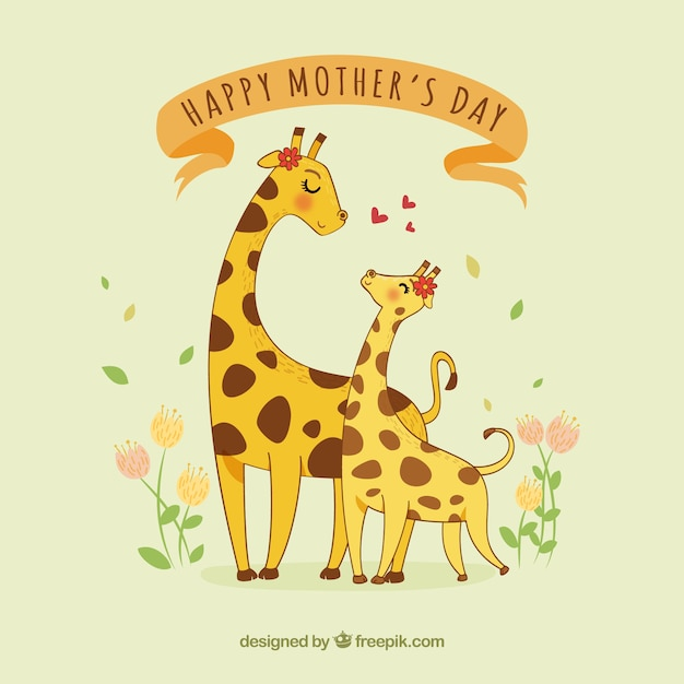 Cute mother day background Free Vector