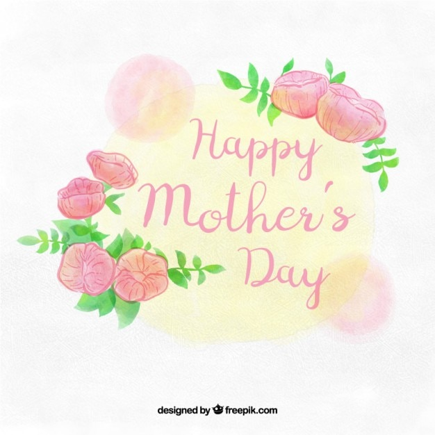 cute Mothers Love Wallpaper : cute mother s day background with flowers Vector Free Download