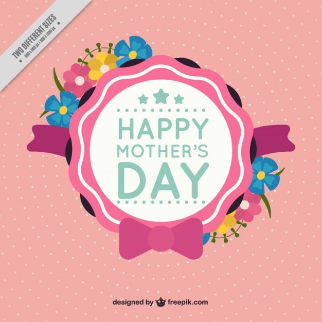 Cute mother\'s day badge