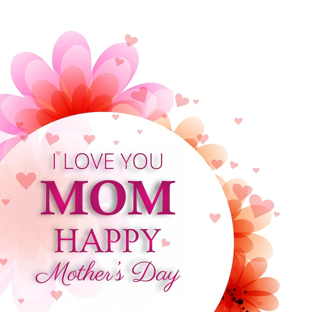 Cute mother's day design Free Vector