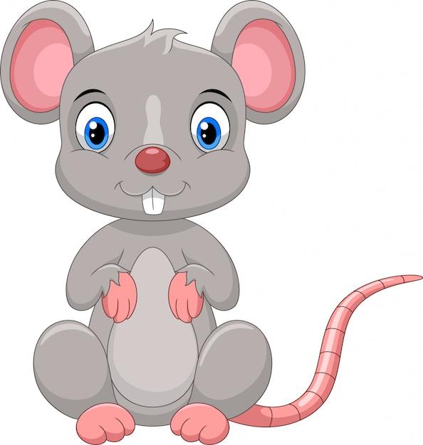 Cute mouse cartoon | Premium Vector