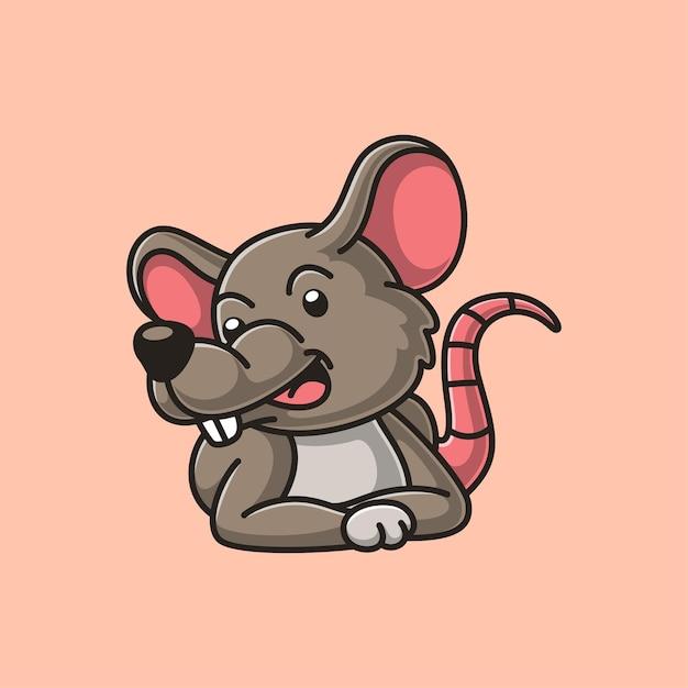 Милый мультфильм мыши Premium векторы