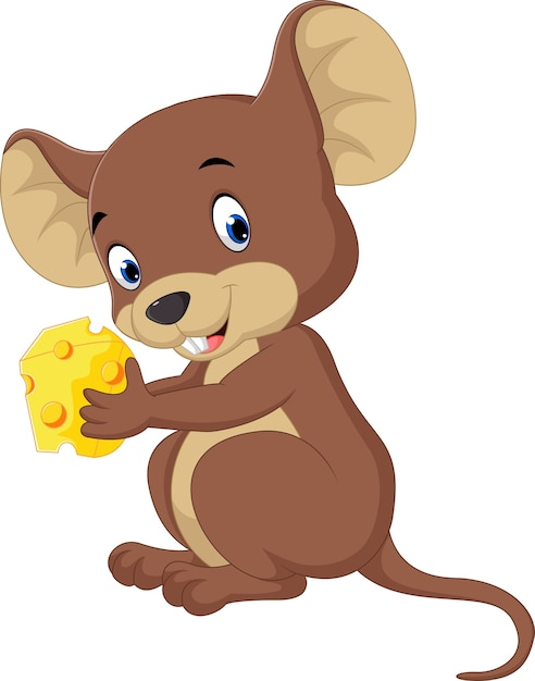 Cute mouse cartoon Vector | Premium Download
