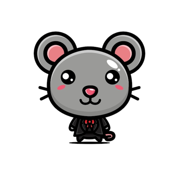 Cute mouse posing cool style Premium Vector