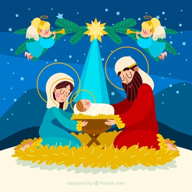 Cute nativity scene