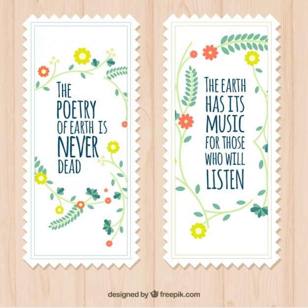 Nature Images With Quotes Download: Cute Nature Quotes Cards Vector