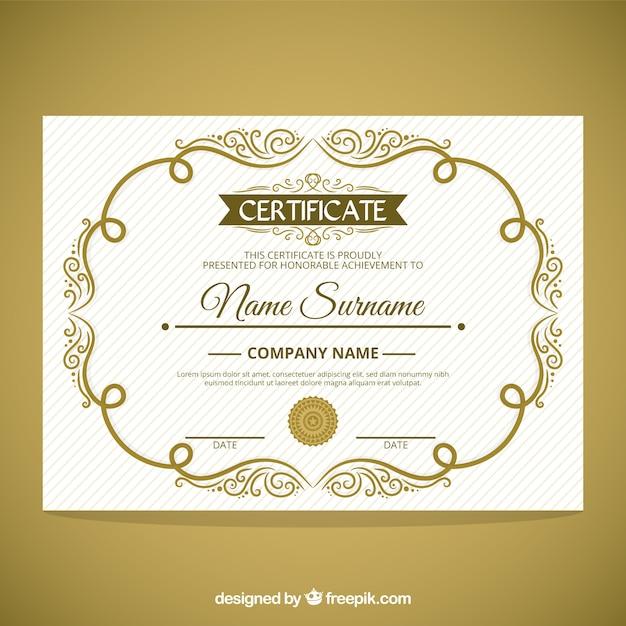 Cute Ornamental Frame Certificate Vector Free Download