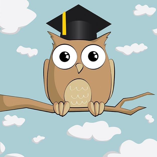 Картинка мудрой совы мультяшной